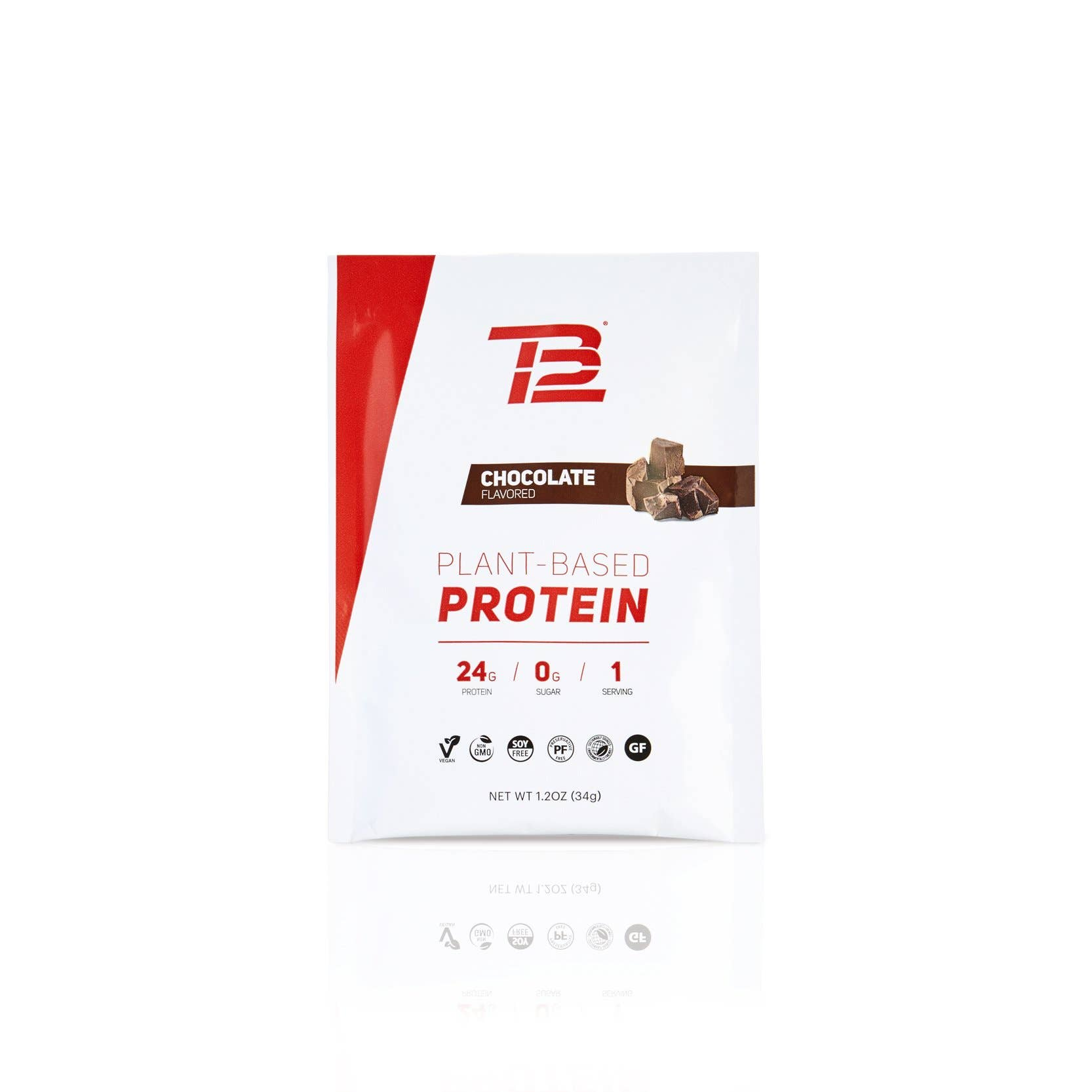 TB12™ Plant-Based Protein (12ct) - Chocolate Front