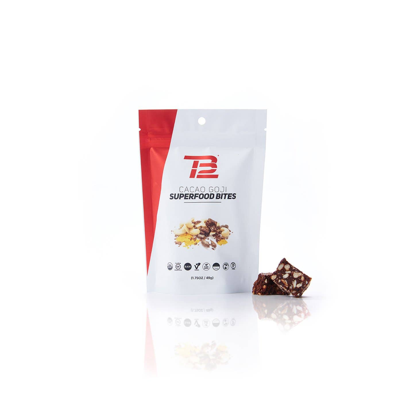 TB12™ Cacao Goji Superfood Bites front