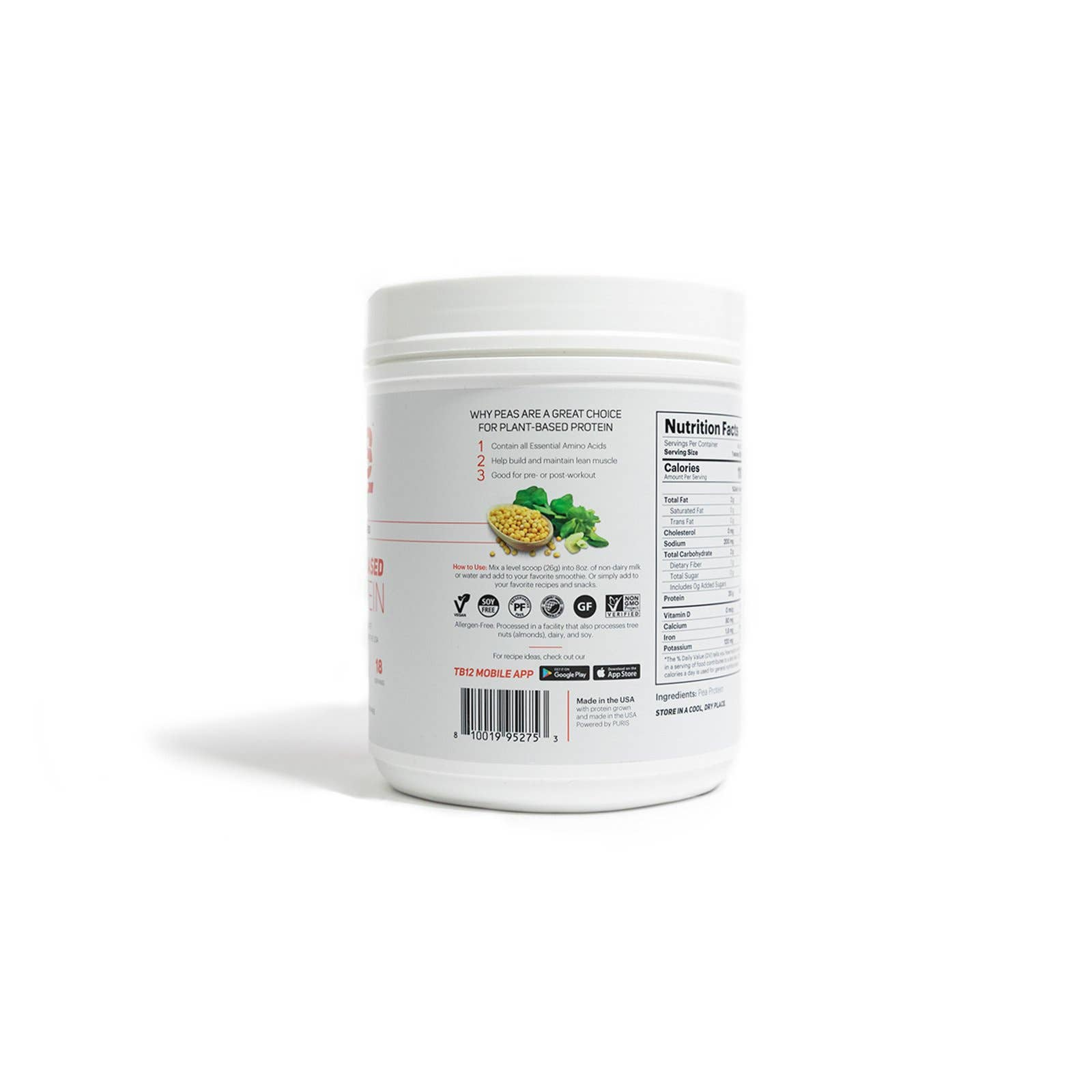 TB12 Plant-Based Protein (1LB)