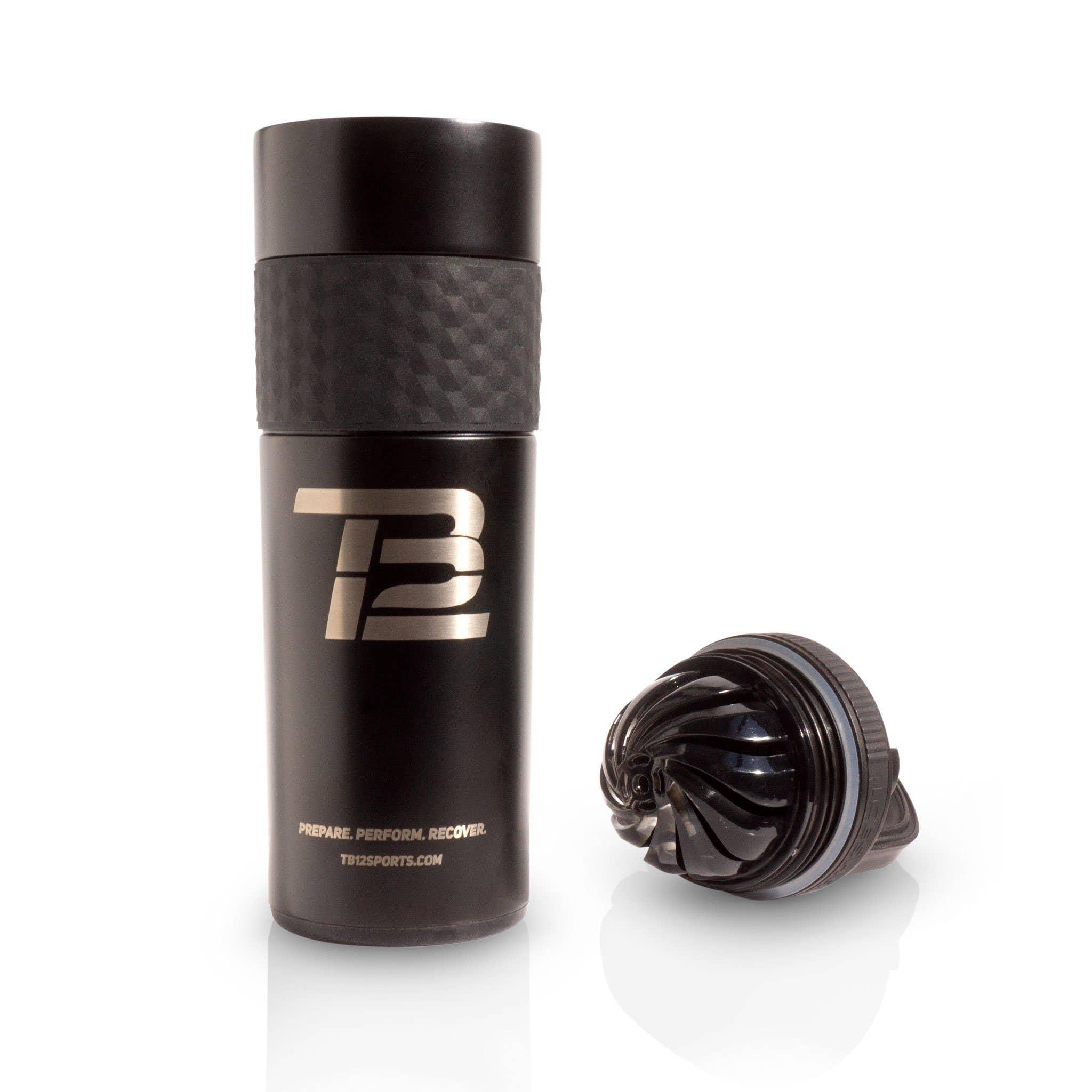 Black TB12™ Insulated Skinny Ice Shaker - 20 oz.