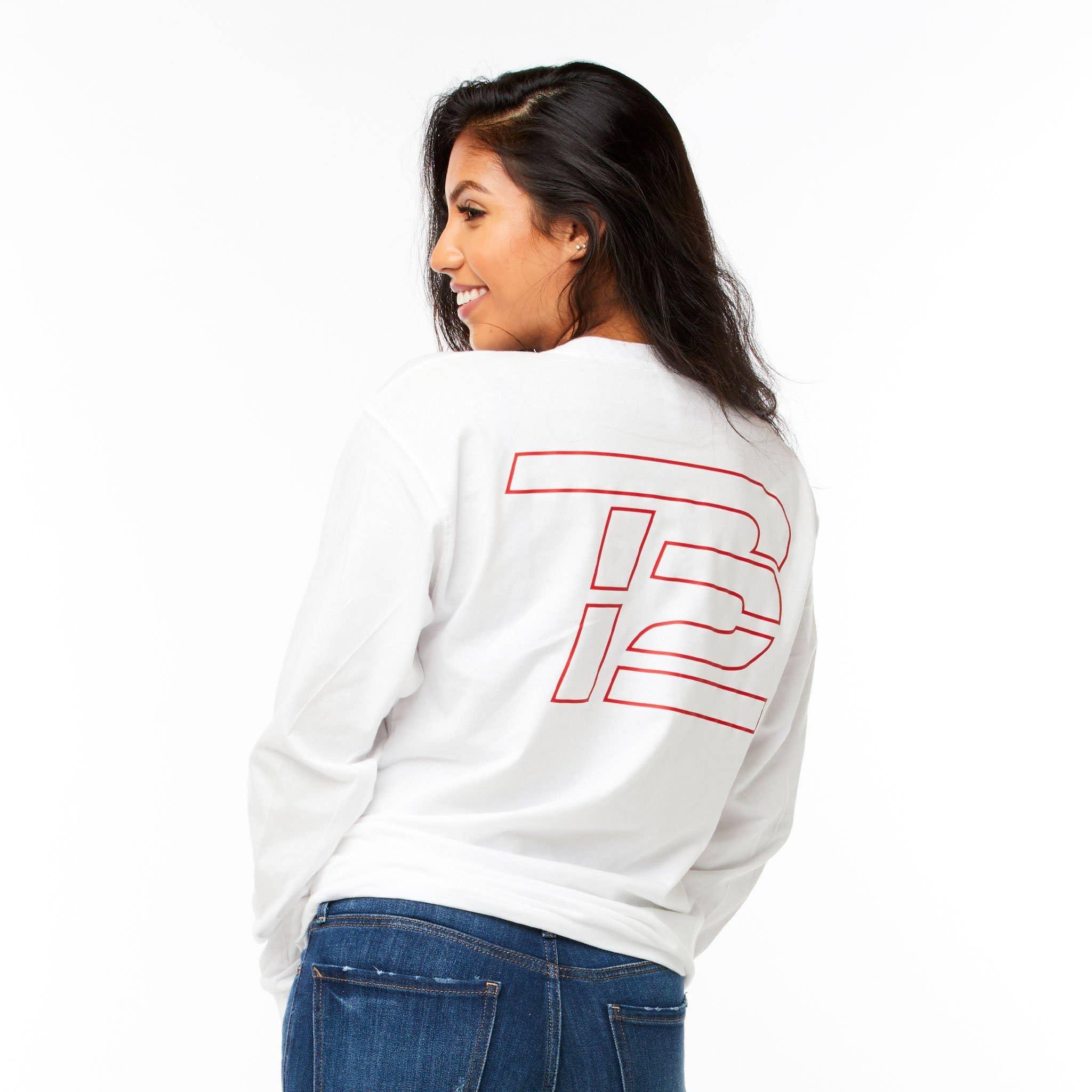 White TB12™ Keep Going Long-Sleeve Shirt