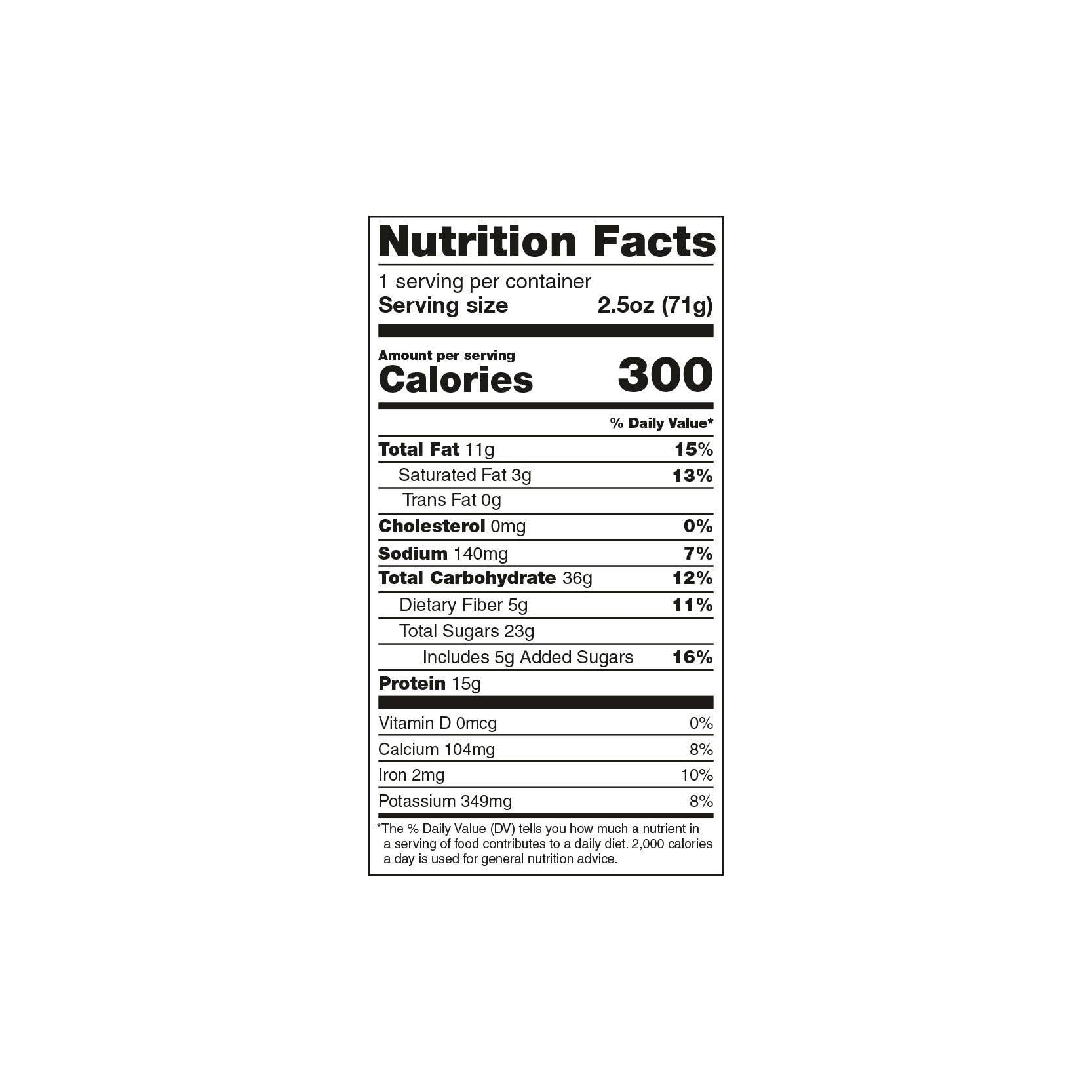 TB12™ Protein Bars (12ct) - Chocolate Nutrition Facts