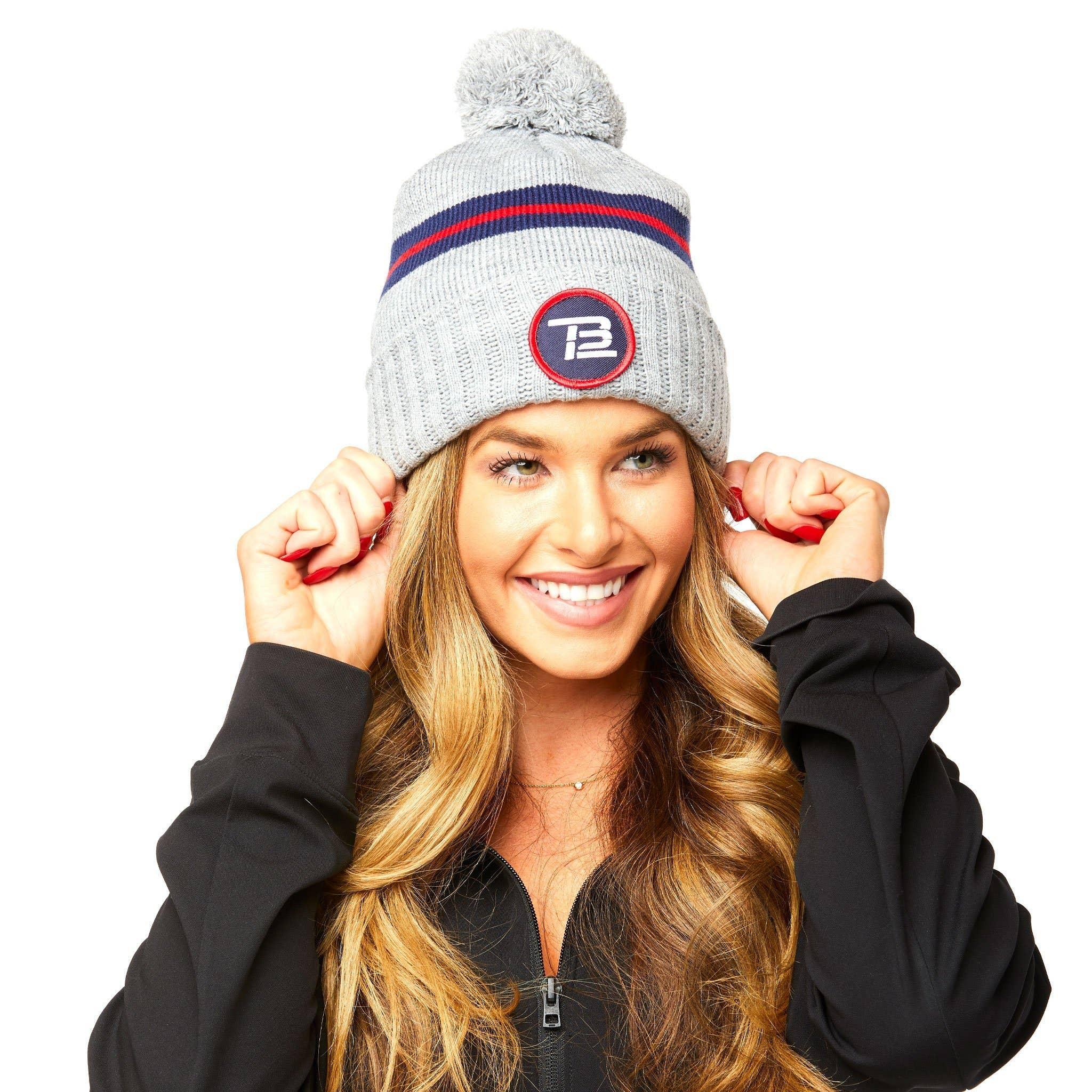TB12™ Women's Pom Beanie - Gray